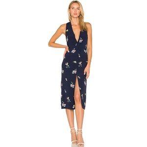 NWT majorelle • Navy Floral copacabana Midi Dress